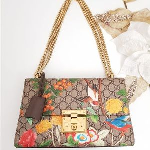 Gucci padlock flora medium